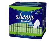 Always Maxi Long Super Pads with Wings - 90 ct.