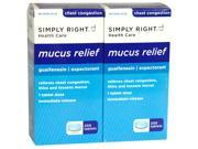 Simply Right Mucus Relief, Guaifenesin 400 mg, Expectorant, 400 Tablets