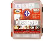 First Aid Kit with Hard Case - 326 Pieces