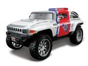 Maisto 1:24 Red & White AS RF 2008 Hummer HX Concept