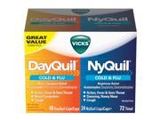 Vicks NyQuil and DayQuil LiquiCaps Combo Pack - 72 ct.