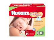 Huggies Little Snugglers Diapers, Newborn (Up to 10 lbs.), 108 ct.