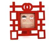 """Photo Frame 3"""" x 3"""" Red Double Happiness Wedding"""