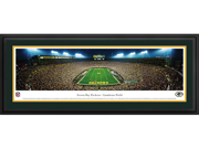 GREENBAY PACKERS - END ZONE - Deluxe Framed Panoramic Print