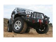 Fab Fours JK07-B1850-1 Lifestyle WInch Bumper with Pre-runner Grille Guard by Fab Fours