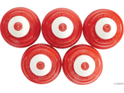 FuelBelt Water Bottle Replacement Caps: 5 Pack~ Red