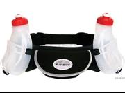 FuelBelt Wachusett Hydration Belt with Two 10oz Bottles: Black&#59; One Size