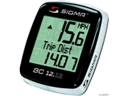 Sigma BC 12.12 Wired Cycling Computer: Black/White