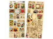 "Heartwarming Vintage Creative Scraps Dble-Sided 9.5""X8"" Fold-Garden"