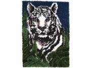 "Wonderart Latch Hook Kit 24""X34""-White Tiger"