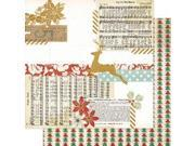 """Snow Village Double-Sided Cardstock 12""""X12""""-Eggnog"""