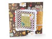 Sizzix Movers & Shapers Large Base Die-Card&#59; Scallop Square Flip-Its