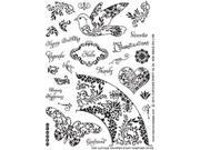 "Crafty Secrets Clear Art Stamps Large 8""X6"" Sheet-Cupcake Party"