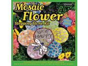 Mosaic Flower Stepping Stone Kit-