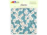"Fabric Palette Charm Pack 5""X5"" Cuts 100% Cotton 20/Pkg-Zinnia Blue"