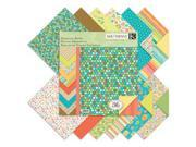 """Designer Double-Sided Paper Pad 12""""X12""""-Summer Travel, 36 Sheets, 12 Designs/3ea"""