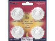LED Tea Lights 4/Pkg-White 7""