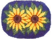 "Wonderart Latch Hook Kit 20""X27""-Sunflower"
