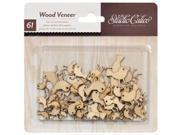 Heyday Laser-Cut Wood Veneer Shapes-Tweets 61/Pkg