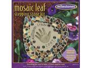 Mosaic Leaf Stepping Stone Kit-