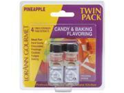 Candy & Baking Flavoring .125 Ounce Bottle 2/Pkg-Pineapple