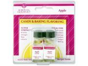 Candy & Baking Flavoring .125 Ounce Bottle 2/Pkg-Apple