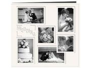 """Collage Frame Sewn Embossed Cover Postbound Album 12""""X12""""-White/Wedding"""