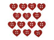 Dress It Up Embellishments-Sew Cute Red Hearts
