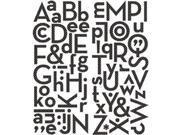 Puffy Alpha Stickers 73/Pkg-Black