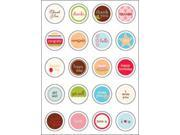 Looking Glass Cardmaking Stickers 20/Pkg-Circles