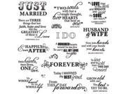 "Fiskars Quote Clear Stamps 8""X8""-Just Married"