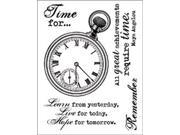 """Technique Tuesday Clear Stamps 3""""X4""""-Chronology"""
