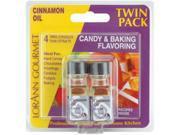 Candy & Baking Flavoring .125 Ounce Bottle 2/Pkg-Cinnamon Oil
