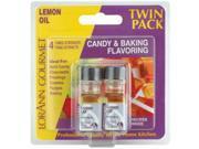 Candy & Baking Flavoring .125 Ounce Bottle 2/Pkg-Lemon Oil