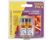 Candy & Baking Flavoring .125 Ounce Bottle 2/Pkg-Orange Oil