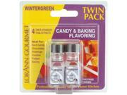 Candy & Baking Flavoring .125 Ounce Bottle 2/Pkg-Wintergreen