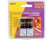 Candy & Baking Flavoring .125 Ounce Bottle 2/Pkg-Maple