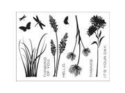 "Technique Tuesday Clear Stamps 3""X4""-Wildflowers"