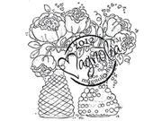 With Love Cling Stamp-Bouquets With Love
