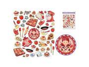 """Multicraft Dazzle Clear Stickers 5.875""""X6.5""""-Love To Bake"""
