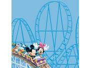 "Disney Paper 12""X12""-Amusement Park Roller Coaster"