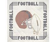 "Stamped Quilt Blocks 18""X18"" 6/Pkg-Football"