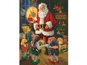 "Jigsaw Puzzle 550 Pieces 18""X24""-Santa & His Elves"