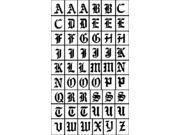 "Rub 'n' Etch Glass Etching Stencils 5""X8"" 1/Pkg-Old English Alphabet"