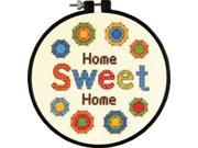 """6"""" Round 14 Count Learn-A-Craft Sweet Home Counted Cross Stitch Kit Dimensions 72-73704"""