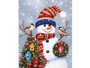 "Jigsaw Puzzle 550 Pieces 18""X24""-Snowman & Chickadees"
