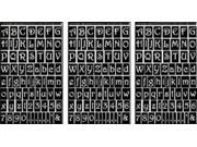 "Rub 'n' Etch Glass Etching Stencils 5""X8"" 3/Pkg-Gala Letters & Numbers"