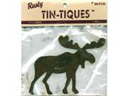 "Rusty Tin-Tiques Tin Cut-Outs-Moose 4-1/4"" 1/Pkg"