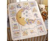 Twinkle Twinkle Little Star Crib Cover Stamped Cross Stitch -