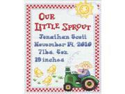 "On The Farm Birth Record Counted Cross Stitch Kit-9""X12"" 14 Count"